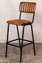 Leather Bar Stool Range, Industrial Bar Stool