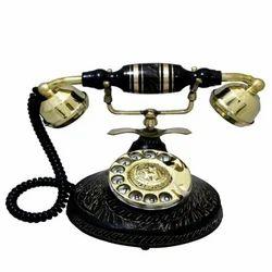 Brass Ethnic Landline Phone of Nehru Style