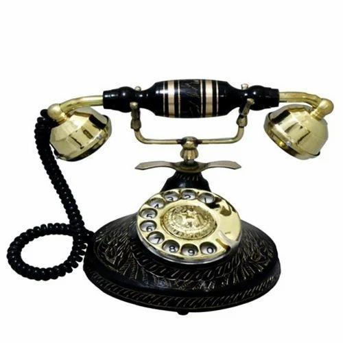 c65f9de2996 Fancy Gramophone - Full Brass Metal Land Line Phone Manufacturer from Jaipur