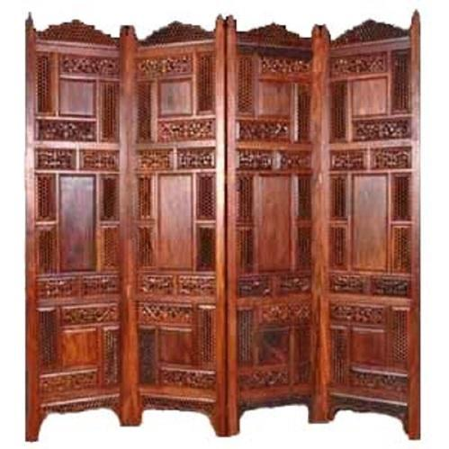 72X20 Sapphire Hand Carved Wooden Room Partition Rs 9800 set ID