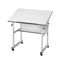 White Drafting Table Set