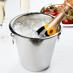 Shinny Polished Wine Bucket (Side Ring)