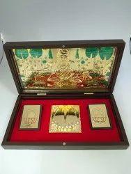 Shantinath Gold Plated Photo Frame Box