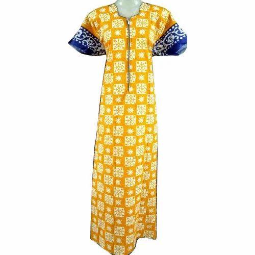 993d3656e Long And Full Length Cotton Procion Long Zip Nighty