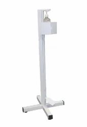 Manual White Hand Sanitizer stand