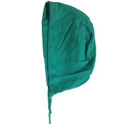 Green Cotton Surgical Cap, Size: Free Size