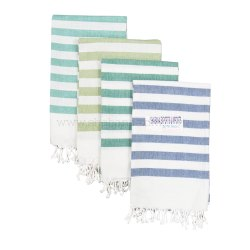 100% Cotton Yarn Dyed Pestemal Fouta Towel with Backside Terry