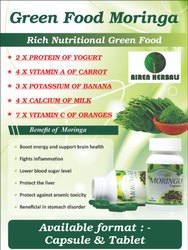 Airen 500 mg Extract Based Moringa Leaf Capsule, Grade Standard: Medicine Grade, for Personal