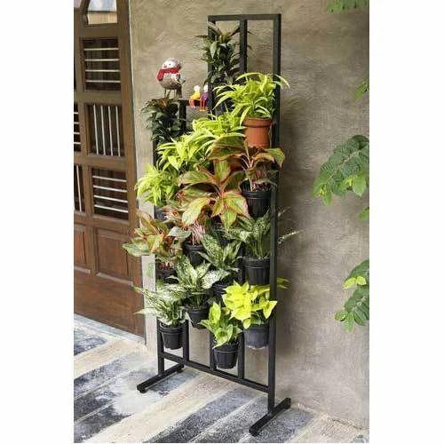vertical metal plant stand 16 pots at rs 3290 piece. Black Bedroom Furniture Sets. Home Design Ideas