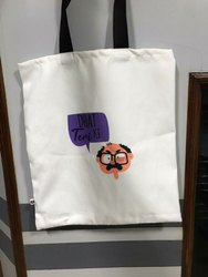 White Printed Canvas Bags