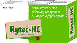 Beta Carotene Zinc Selenium Manganese and Copper Softgel Capsule