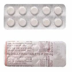 Disulfiram Tablets, For Clinical, Dosage: 250 Mg