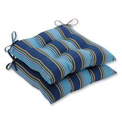 Blue Striped Seat Cushion