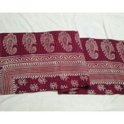 Block Printed Cotton Saree