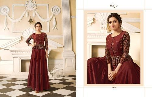 19ea1dfac3 Lt Fabrics Nitya Vol 34 Nx Designer Gown at Rs 1299 /piece | Gown ...