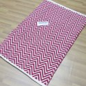 Plain Color Carpet Runners Bedside Floor Mats Woven Cotton Rugs India