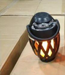 Black ABS Flammable Light Speaker, 3 W