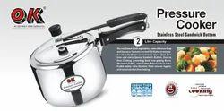 Stainless Steel Standard Shape 2.0 Ltr Pressure Cooker
