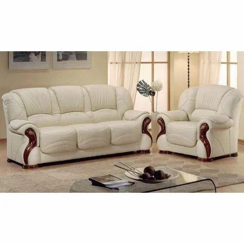 Images For Sofa Set: Light Beige And Brown Living Room Sofa Set, Rs 35000 /set