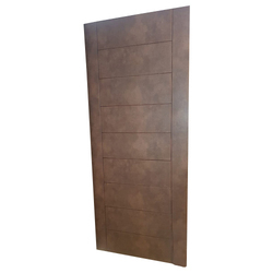 Hinged Leather Laminated Wooden Door