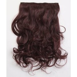 Burgundy Clip on Hair Extensions