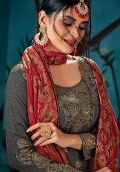 Pure Cotton Fancy Long Salwar Kameez