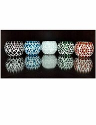 Beads Round Mosaic Glass Wall Hanging Lamps, For Decorations