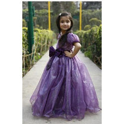 Girls Voilet Net Gown Dress Designer, Age Group: 1 to 10 Year