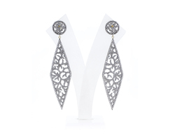 Diamond Filigree Marquise Earrings