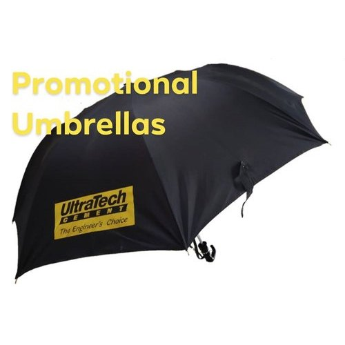 257071be9 Plain Polyester Black Promotional Umbrella, Rs 140 /piece | ID ...