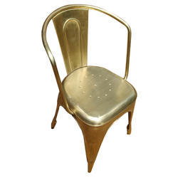 Gold Polished Metal Dinning Chair