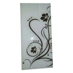 White Designer Glass, Shape: Rectangle