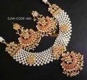 Red Satyam Jewellery Nx Traditional Wedding Necklace
