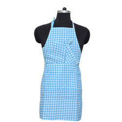 Blue And White Cotton Cooking Kitchen Apron