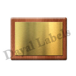 Gold Name Plates