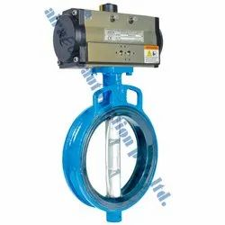 Aira Euro Pneumatic Wafer Butterfly Valve, Size: 1.1/2 to 48 inch
