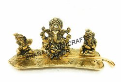Golden Plated Musical Ganesh