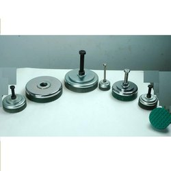 Vishwaraj Black/Green Steel Plate Round Leveling Mounts