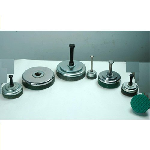 Vishwaraj Black/Green Steel Plate Round Leveling Mounts