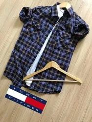 Cotton Full Sleeves Tommy Hilfiger Shirt, Size: XL