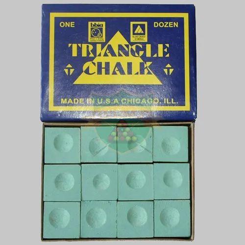 Club 147  Triangle Chalk 12 Pcs Green