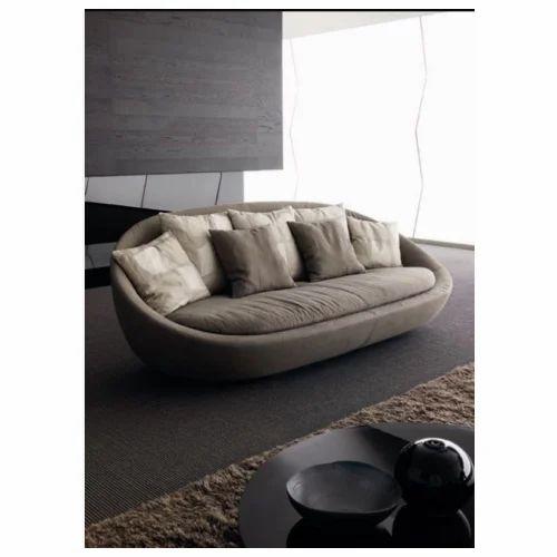 Round Brown Modular Sofa