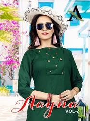 Aayna Vol-2 Series 2001-2006 Stylish Party Wear Rayon Kurti