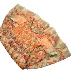 Stitched Cotton Flower Girl Gown, Size: M-XXL