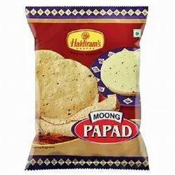 Haldiram Pale Yellow Moong Papad, Packaging Type: Packet
