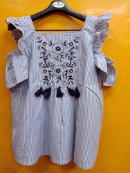 Multicolor Rayon Cotton Georgette Tops Dresses, Machine Wash, Size: S To 7XL
