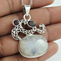 925 Sterling Silver Multi Stones Chakra Pendant