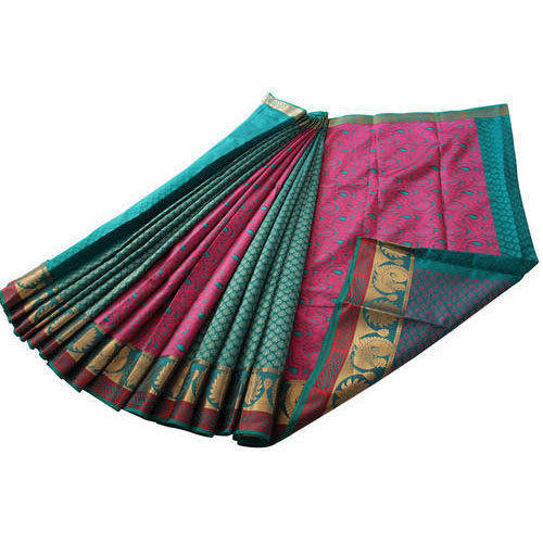 9cbb174859cfa Border Wedding Kora Cotton Saree