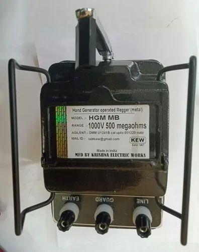 Metal Body Megger Insulation Tester