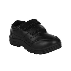 Black Velcro School Shoes, Packaging Type: Box